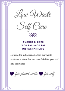 Low Waste Self Care  Live
