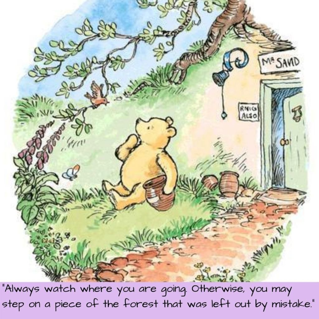 Winnie the Pooh with quote