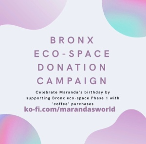 Birth month  donation campaign for Bronx eco-space